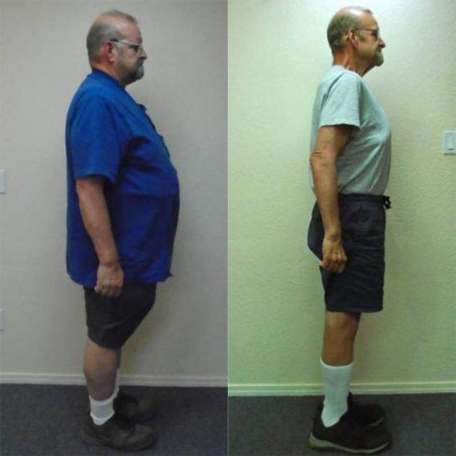 David lost weight fast