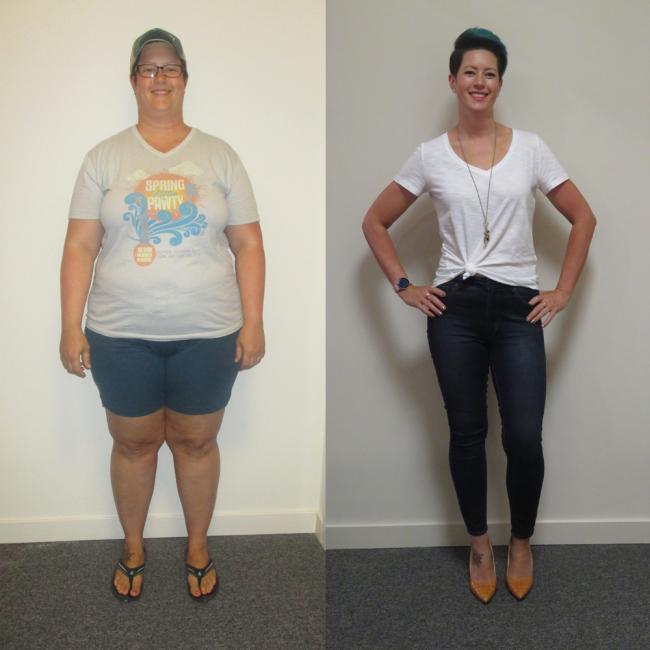 Julie dropped 123 lbs!