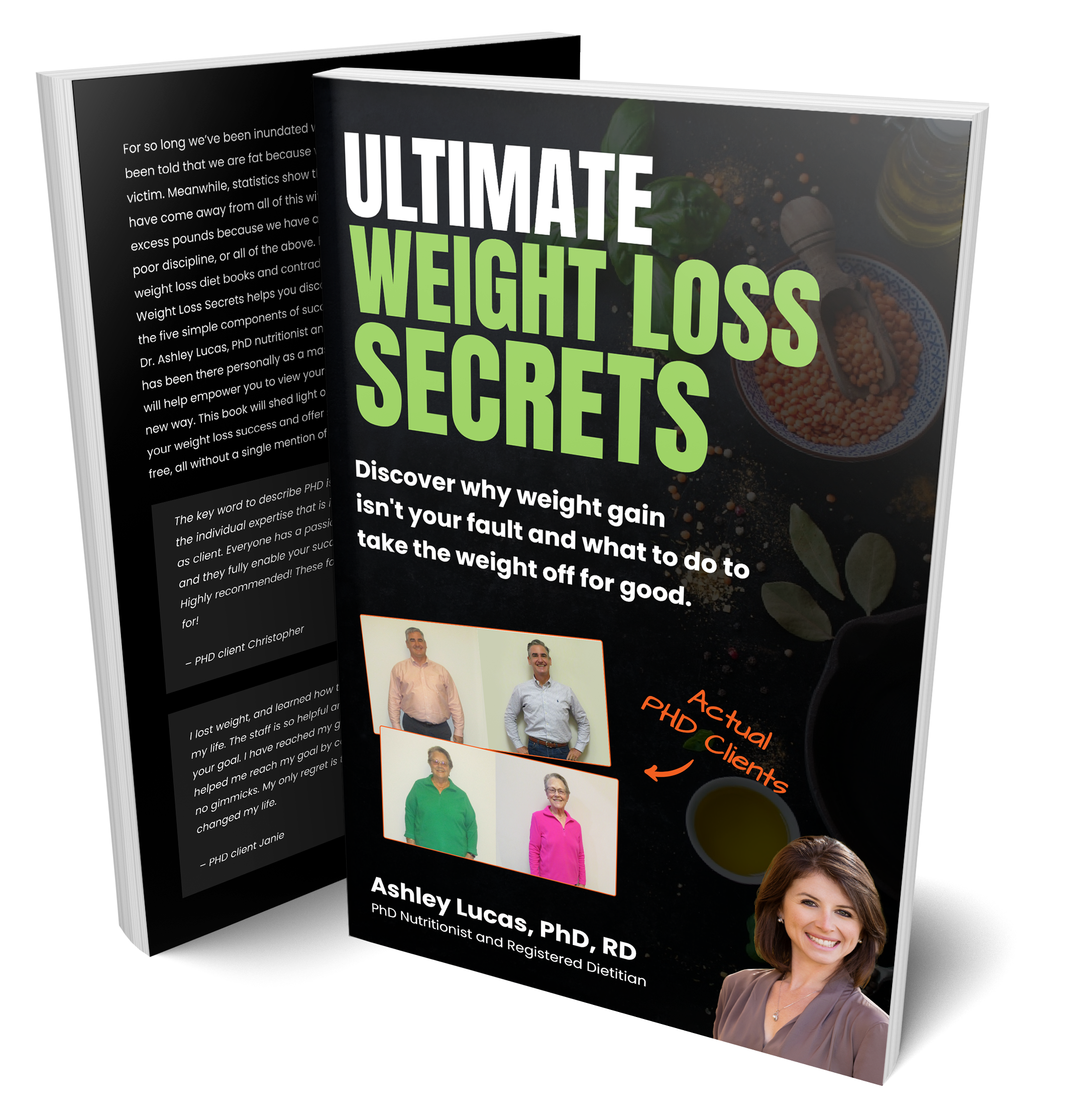 Ultimate Weight Loss Secrets Book Cover Front and Back